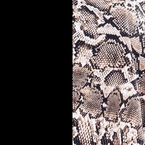 negro + estampado serpiente